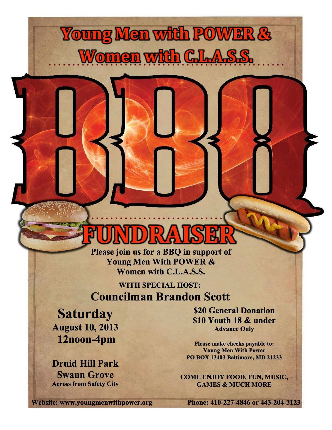 bbq fundraiser ticket template